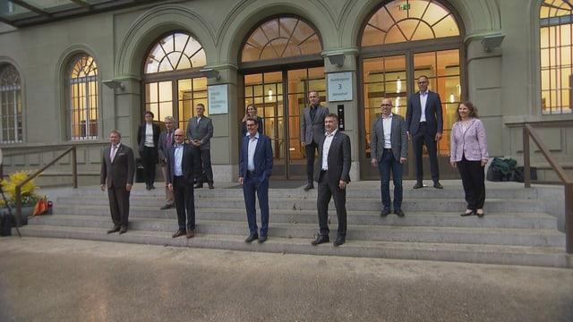 Representanten der Branche am Tourismusgipfel in Bern.