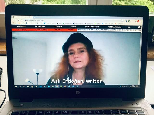 Bildschirmfoto von Aslı Erdoğan