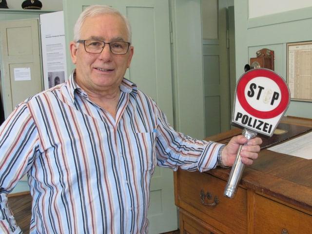 Josef Eberhard hat den alten Polizeiposten wiederentdeckt.