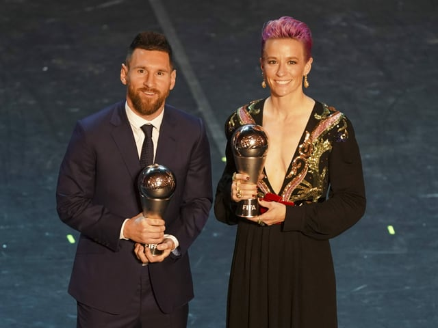 Lionel Messi und Megan Rapinoe