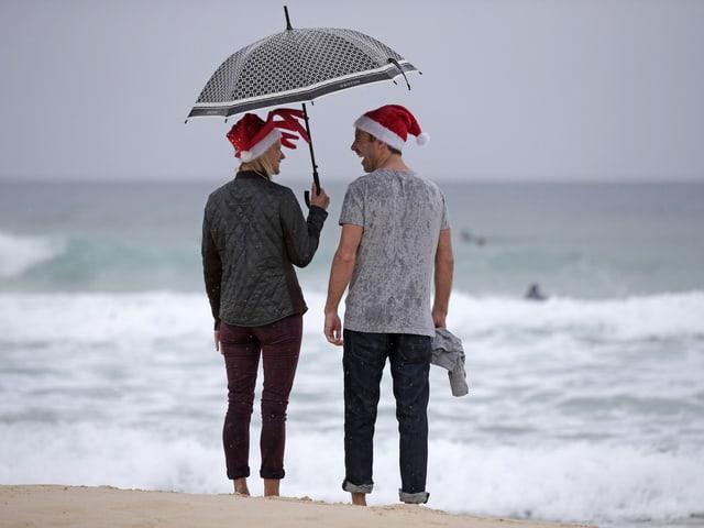 Australier mit Samichlaus-Mütze