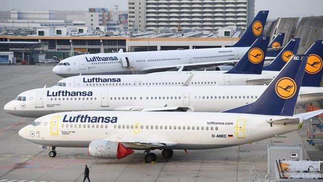 Plirs aviuns da la Lufthansa sin in eroport