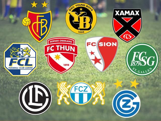 Die aktuellen Super League Teams