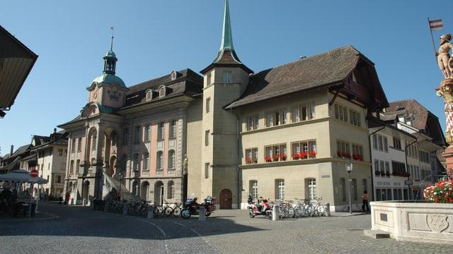Das alte Rathaus und Metzgerzunft in Zofingen
