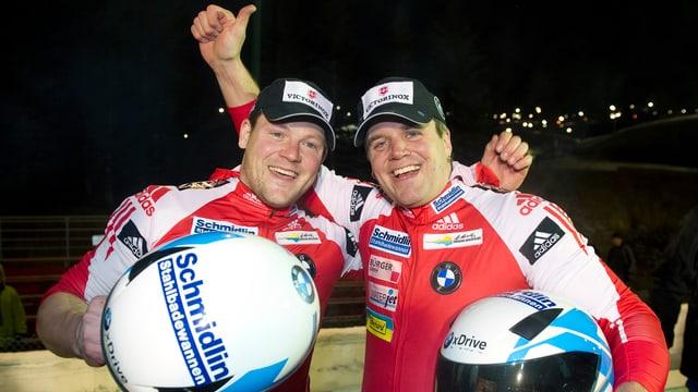 Beat Hefti (rechts) und Thomas Lamparter feierten vor einer Woche den EM-Titel im Zweier.