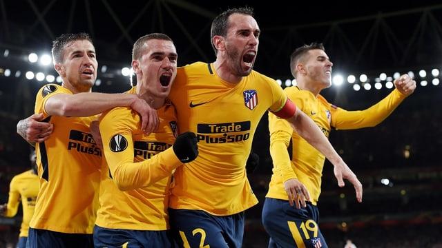 Giugaders dad Atlético.