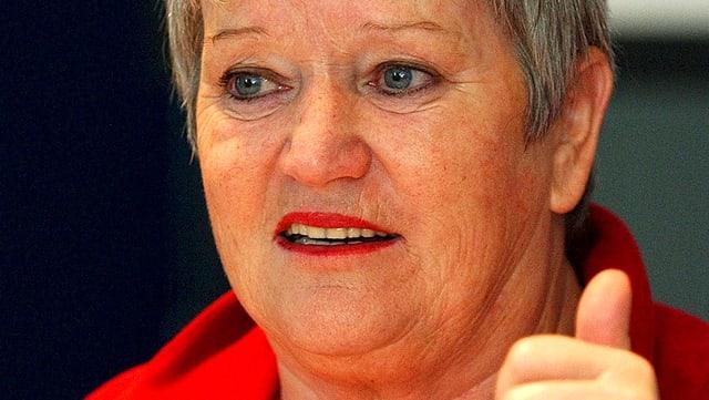 Portrait der Präsidentin der GfbV, Ruth-Gaby Vermot-Mangold.