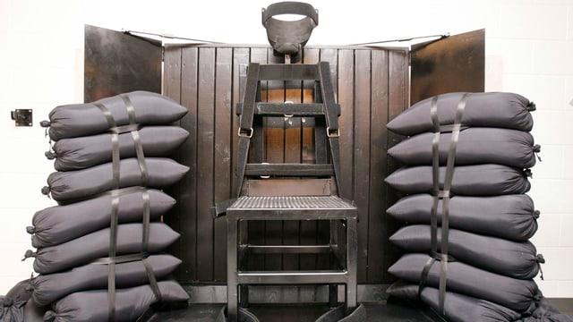 Elektrischer Stuhls im Utah State Prison.