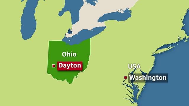 Karte Dayton Ohio