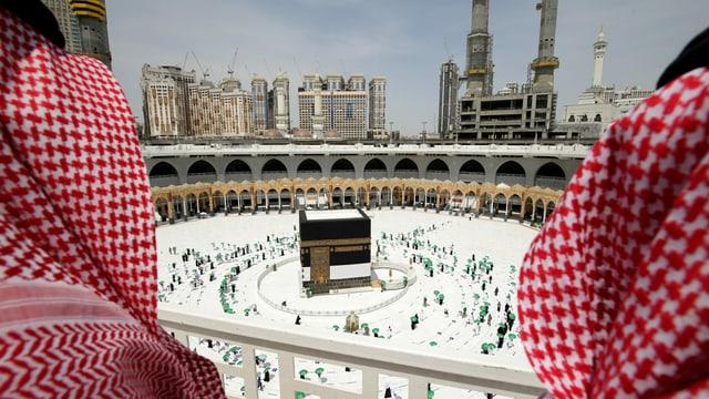 Muslime in der Grossen Moschee in Mekka.