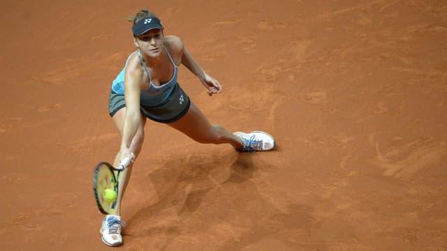 La giugadra da tennis Belinda Bencic en acziun.