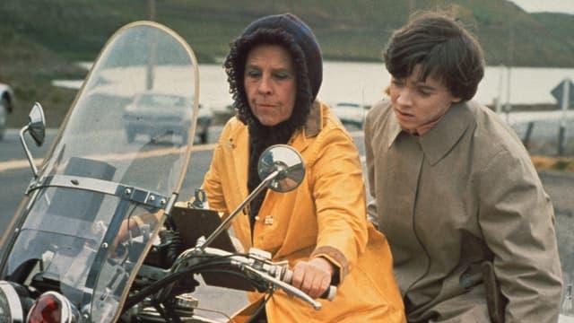 Harold und Maude auf dem Motorrad
