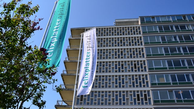 Teil des Gebäudes des Felix Platter Spitals.