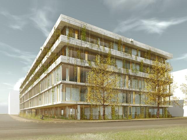 Visualisierung eines Gebäudes