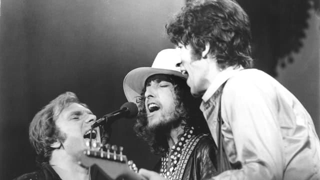 Van Morrison, Bob Dylan und Robbie Robertson.