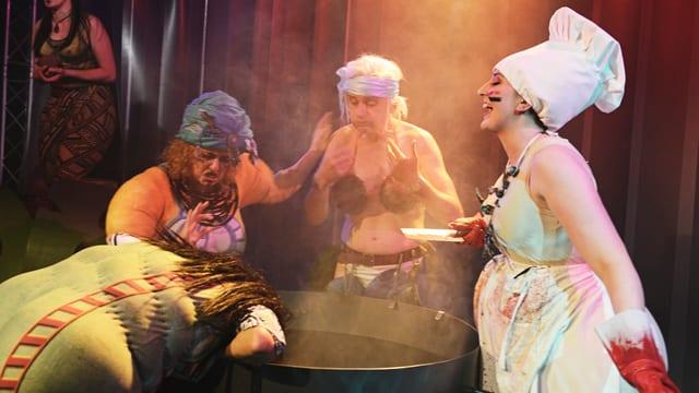 Szene aus «Häuptling Abendwind» Theater Kanton Zürich