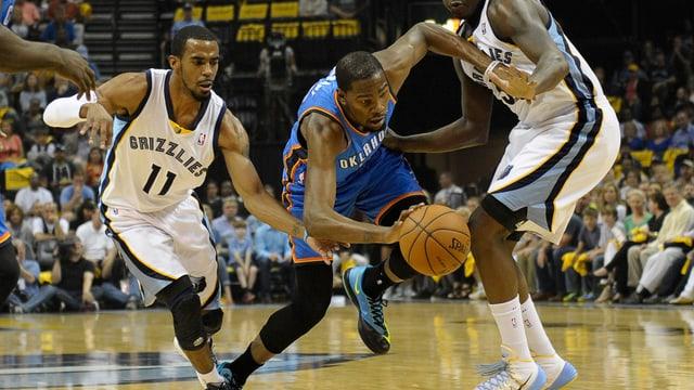 Auch die 30 Punkte von Kevin Durant reichen Oklahoma nicht zum Sieg.