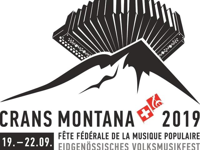 il logo da la festa federala da musica populara