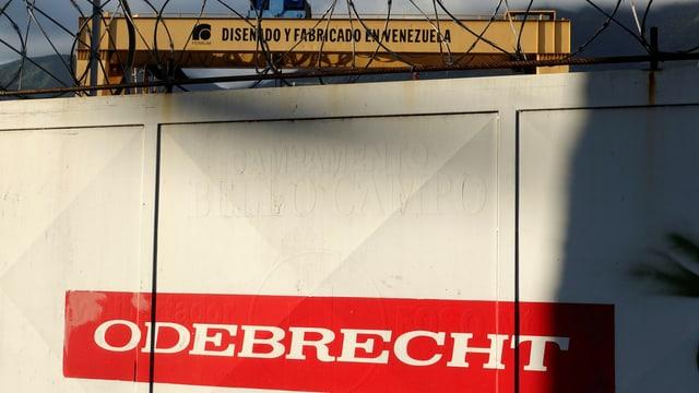 Das Firmenlogo von Odebrecht.