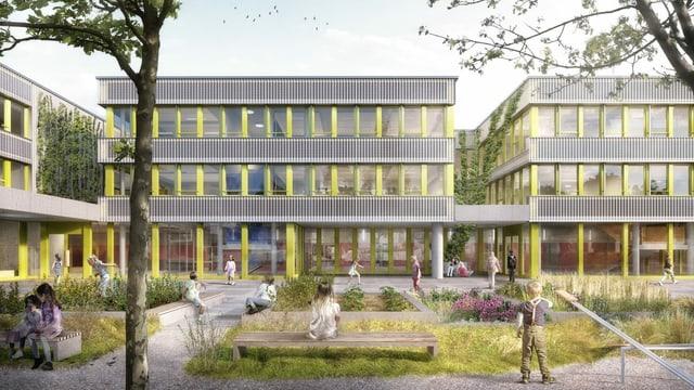 Die neue Schulanlage an der Thurgauerstrasse soll Platz bieten für 440 Kinder.