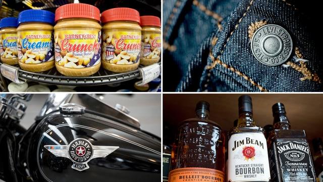 Aufschläge auf Whiskey, Erdnussbutter, Jeans