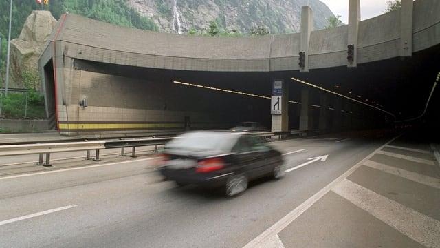 Das Nordportal des Gotthardstrassentunnels