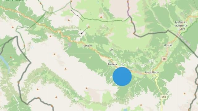En questa regiun han ins chattà ils fastizs (grafica da l'Uffizi da chatscha e pestga).