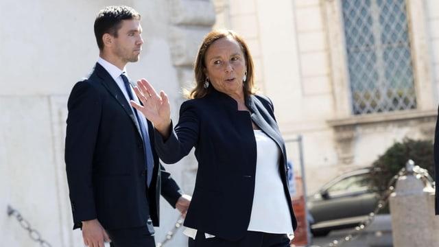 Italiens neue Innenministerin Luciana Lamorgese verlässt nach der Vereidigung den Quirinalspalast in Rom.
