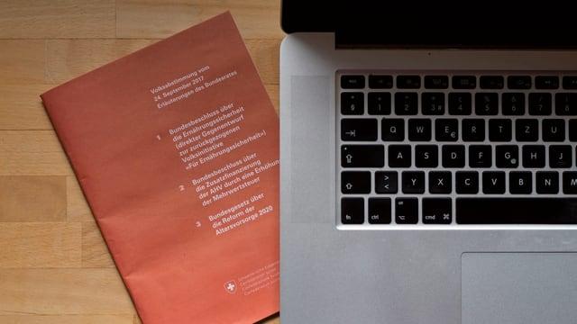 Laptop cun in carnet da vuschar daspera