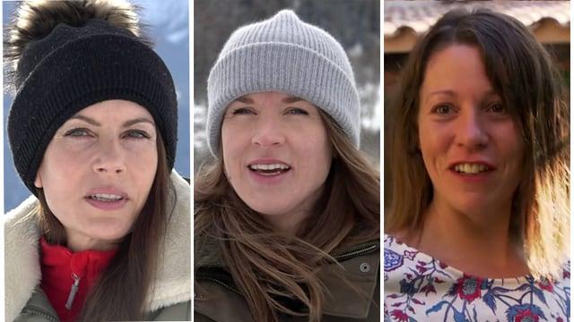 Prisca Zehani-Tschenett, Ursina Haller e Nicole Bundi.