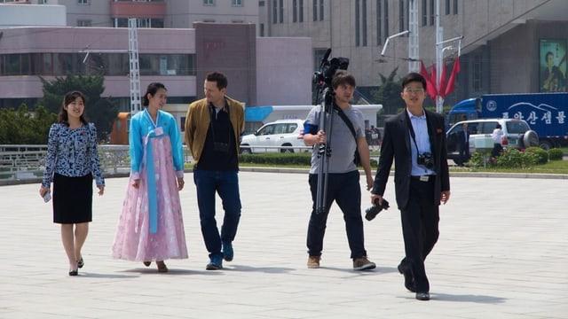 Unsere Reisgruppe mit Frau Kim links und Herr Moon rechts im Bild.