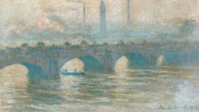 Die Waterloo Bridge, gemalt von Monet.