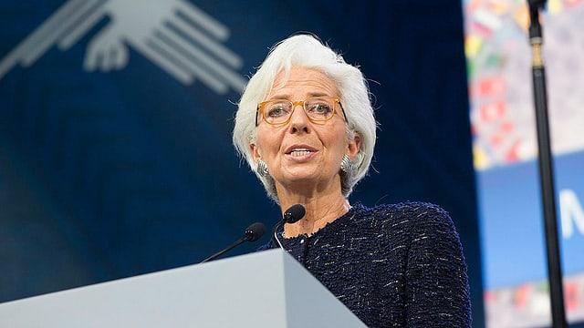 Lagarde an Rednerpult