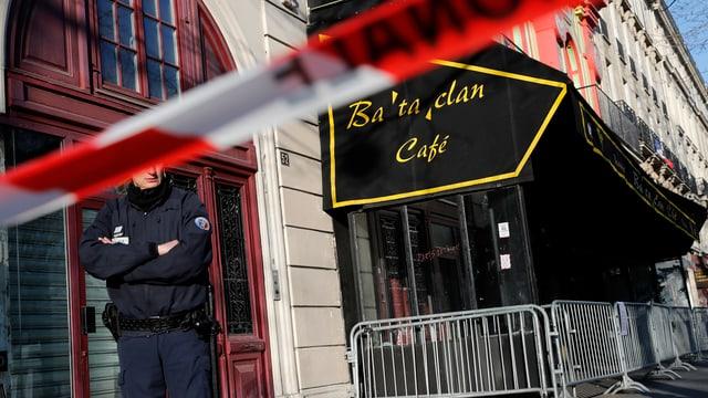 Absperrung an der Konzerthalle Bataclan, einem der Anschlagsorte von Paris.