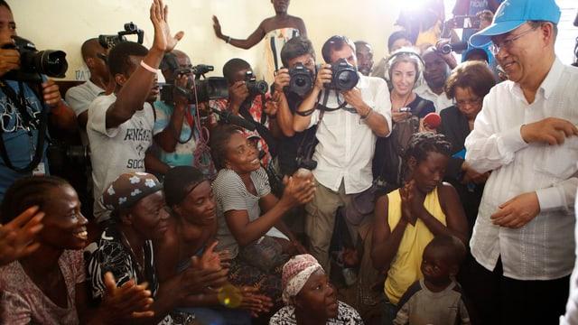 Ban Ki-Moon in Haiti