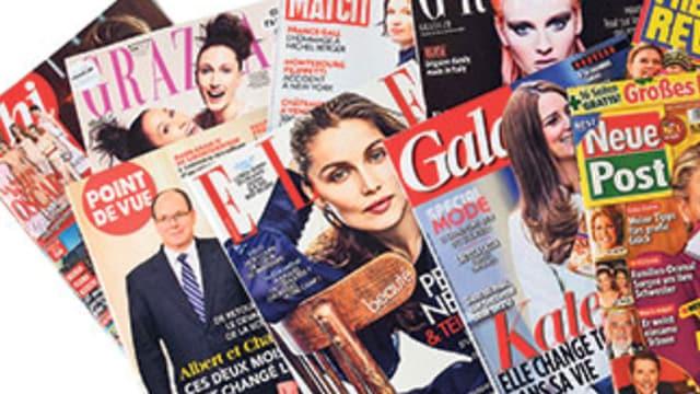 verschiedene Zeitschriften aus Italien, Frankreich und Deutschland.