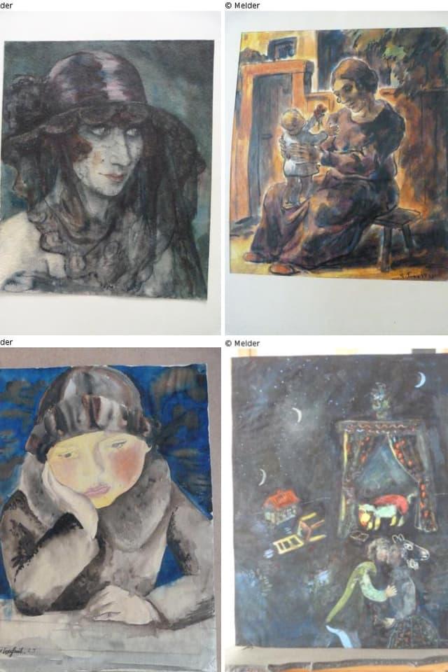 Collage von verschiedenen Kunstwerken.