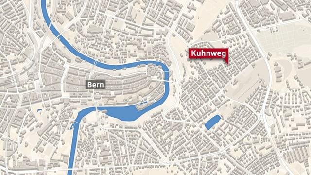 Lage des Kuhnwegs in Bern