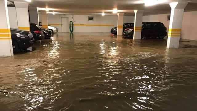 Garage unter Wasser