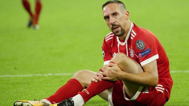 Franck Ribéry zeigt seinen Unmut in der Partie gegen Anderlecht.