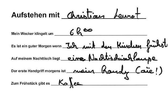 Handschrift von Christian Levrat.