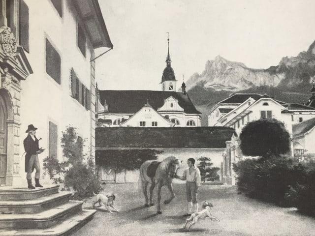 Schwarz-weiss Bild