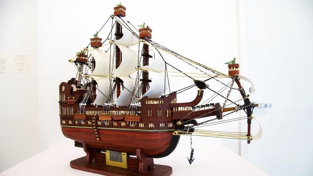 Ein Modellschiff von Moath al-Alwi.