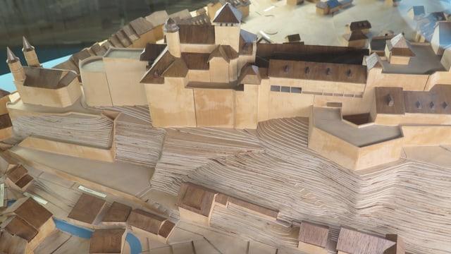 Modell der Festung in Aarburg