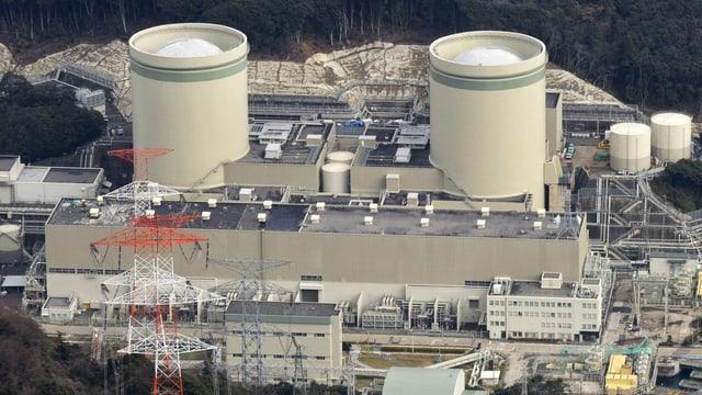 Die Reaktoren 1 und 2 des Kernkraftwerks Takahama.