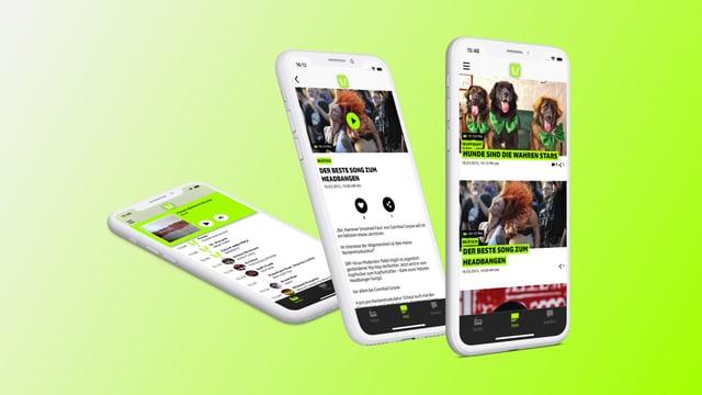 SRF Virus App auf verschiedenen Smartphones
