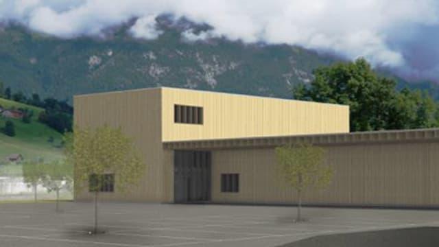 Das geplante Logistikzentrum für den kantonalen Zivilschutz in Kägiswil würde 4,5 Millionen Franken kosten.