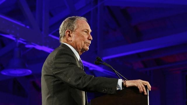 Michael Bloomberg richtete sich am letzten Sonntag in San Antonio an seine Unterstützer.