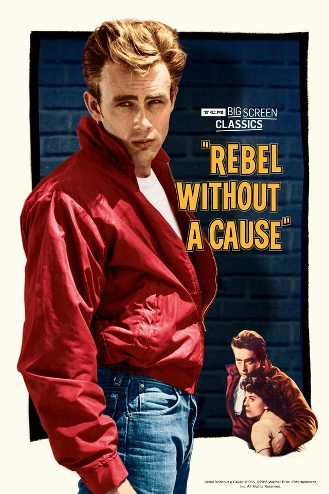 Filmplakat mit Schauspieler in rotem Jacket.