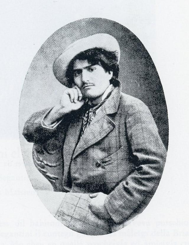 Giovanni Segantini - purtret da giuventetgna